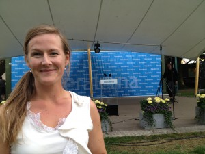Camilla på Folkpartiets dag i Almedalen 2012