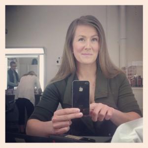 Camilla Eriksson i sminket TV4