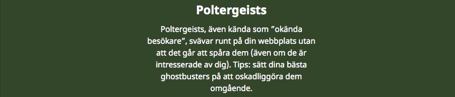 Poltergeists in marketing