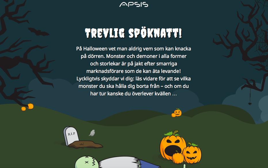 Vi önskar er en spök-takulär Halloween!